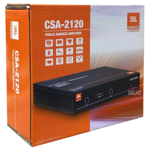 JBL CSA-2120 2-Channel Commercial Power Amplifier Public Address Amp CSA2120