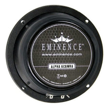 Load image into Gallery viewer, Eminence Alpha-6CBMRA 6.5-inch Sealed Back Speaker 100 Watt RMS 8-ohm rear back view