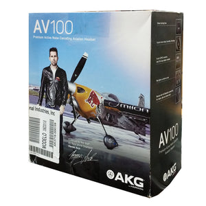 AKG AV100 ANR Aviation Pilot Headset 6-pin LEMO Plug Dual GA Adapter Bluetooth 885038035725 front box