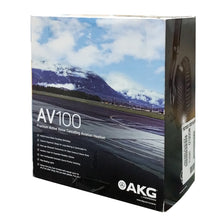 Load image into Gallery viewer, AKG AV100 ANR Aviation Pilot Headset 6-pin LEMO Plug Dual GA Adapter Bluetooth 885038035725 rear back box