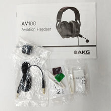 Load image into Gallery viewer, AKG AV100 ANR Aviation Pilot Headset 6-pin LEMO Plug Dual GA Adapter Bluetooth 885038035725 extra accessories