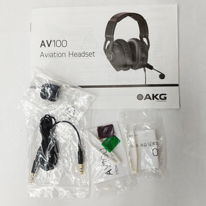 AKG AV100 ANR Aviation Pilot Headset 6-pin LEMO Plug Dual GA Adapter Bluetooth 885038035725 extra accessories