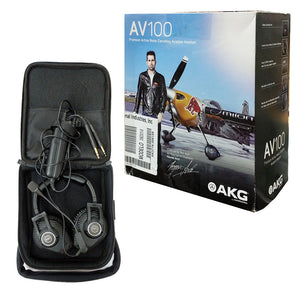 AKG AV100 ANR Aviation Pilot Headset 6-pin LEMO Plug Dual GA Adapter Bluetooth 885038035725 box main image