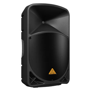 Behringer EUROLIVE B115W 15-inch Powered PA Speaker System 696859053900 front side left view