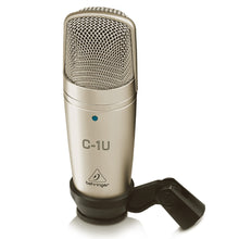 Load image into Gallery viewer, Behringer C1U USB Studio Condenser Microphone C-1U 689076149310 front view