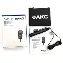 Load image into Gallery viewer, AKG C411 PP Condenser Vibration Pickup Mic for Acoustic Guitar Mandolin Violin 885038006251 box case manual main