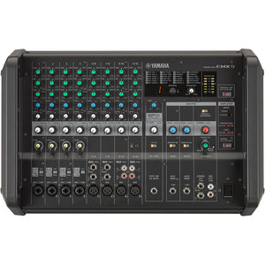 Yamaha EMX5 12-Channel Stereo Powered Mixer Integrated Built-in Amplifier 889025106221 facing front center