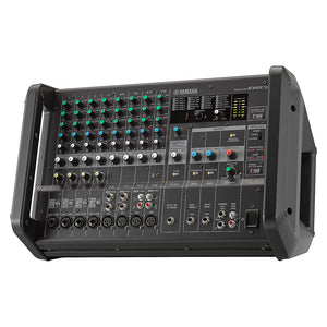 Yamaha EMX5 12-Channel Stereo Powered Mixer Integrated Built-in Amplifier 889025106221 facing left side