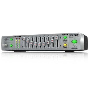 Behringer MINIFBQ FBQ800 Compact 9-Band Graphic Equalizer with Feedback Detection System 689076750776 front view