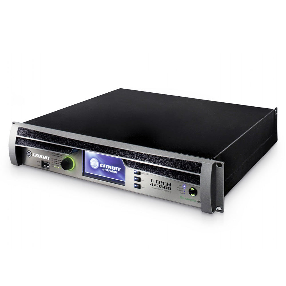 Crown I-Tech 4x3500HD 4-Channel Tour Sound Amplifier OMNIDRIVEHD 691991008023 main front view