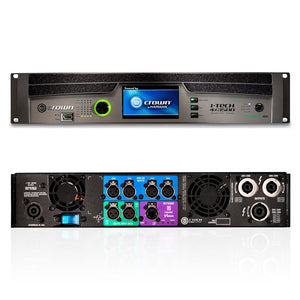 Crown I-Tech 4x3500HD 4-Channel Tour Sound Amplifier OMNIDRIVEHD 691991008023 front and back rear view