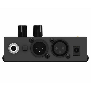 Behringer MICROMON MA400 Miniature Monitor Headphone Amplifier with Microphone Input 689076810081 top view