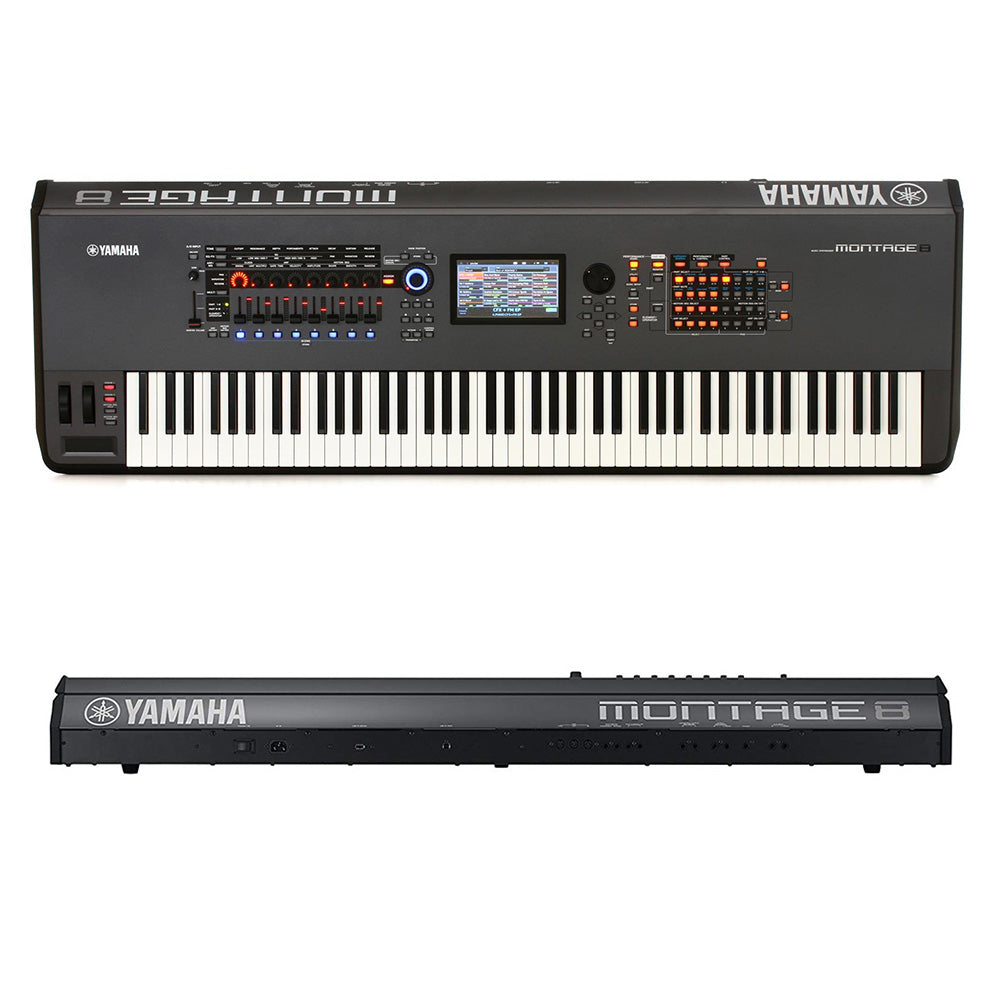 Yamaha Montage 8 - 88-Key Workstation Synthesizer, Black 889025100953 Main
