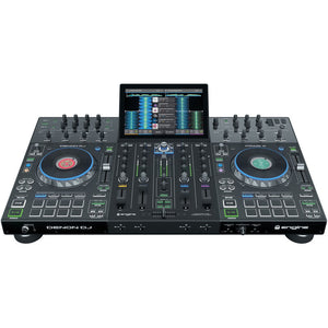 "Denon DJ Prime 4 - Standalone 4-Deck DJ System with 10"" Touchscreen 0694318023792 main front pic photo"