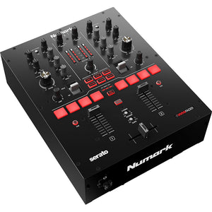 Numark Scratch 2-Channel DJ Mixer for Serato DJ Pro 676762167116 front side left view