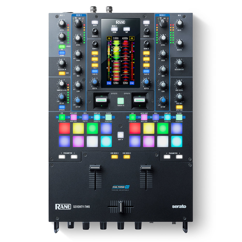 RANE DJ SEVENTY TWO (72) 2-Channel Performance Mixer with Touchscreen for Serato DJ Pro - 694318023556