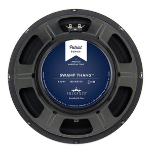 Eminence Patriot Series SWAMP THANG 12-inch Lead/Rhythm Guitar Speaker 150 Watt RMS 8-ohm rear back view