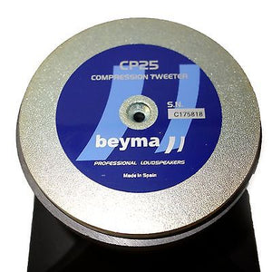 Beyma CP25 High Compression Tweeter with Horn 25 Watt RMS 8-ohm CP-25 796152475666 rear back view