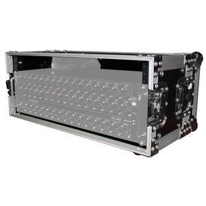 "ProX X-4U7D 4U Deluxe Effects Rack 7"" Deep Rail to Rail with Handle 019372410294 main side view"