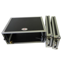 "Load image into Gallery viewer,  ProX X-4UE 4U Deluxe Effects Rack 14"" Deep Rail to Rail with Handles 654367296226 alt vie"