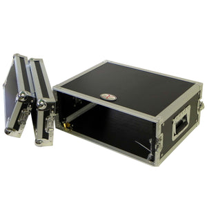 "ProX X-4UE 4U Deluxe Effects Rack 14"" Deep Rail to Rail with Handles 654367296226 main view"