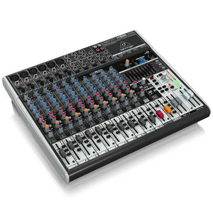 Behringer XENYX X1832USB 18-Input USB Audio Mixer with Effects 736211583147 left side view