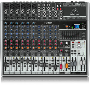 Behringer XENYX X1832USB 18-Input USB Audio Mixer with Effects 736211583147 front