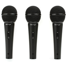 Load image into Gallery viewer, Behringer ULTRAVOICE XM1800S 3-Pack Dynamic Cardiod Vocal and Instrument Microphones 0689076749671 4033653080262 mic only