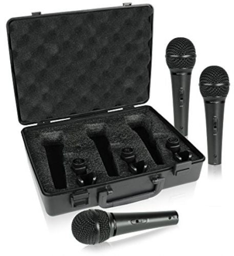 Behringer ULTRAVOICE XM1800S 3-Pack Dynamic Cardiod Vocal and Instrument Microphones 0689076749671 4033653080262 main