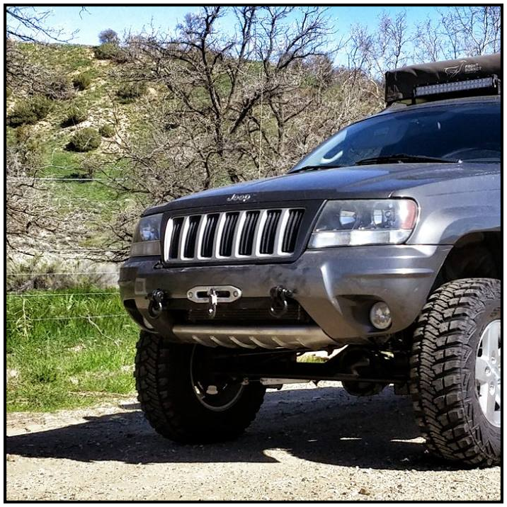 Jeep Grand Cherokee Hidden Winch Mount Wj1999 To 2004 Hk Offroad