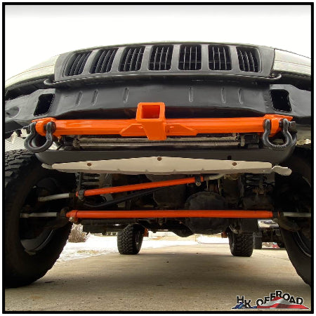 Front Tow Hitch Receiver w/ Shackle Tabs (WJ/WK/XK) - Heavy Duty