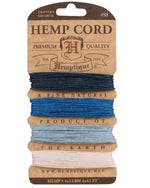 Hemp Cord Card 10lb. - 0.5mm - 20 Shades Available