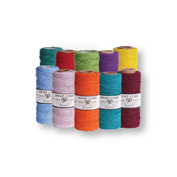 Hemp Cord #20 1mm - 10 Spools - Choose Your Colors - Hemptique