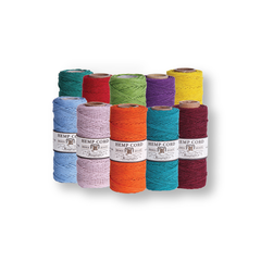 Hemp Cord #20 - 10 Spools - Pick Your Colors