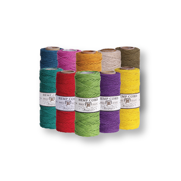 Hemp Cord #10 0.5mm - 10 Spools - Choose Your Colors