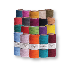 Hemp Cord #20 - 20 Spools - Pick Your Colors