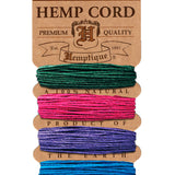 Hemp Cord Card 10lb. - 0.5mm - 41 Shades Available