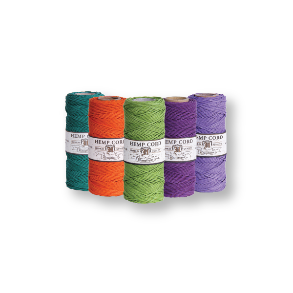 Hemp Cord #20 ⌀ 1mm - 5 Spools - 20 Shades Available