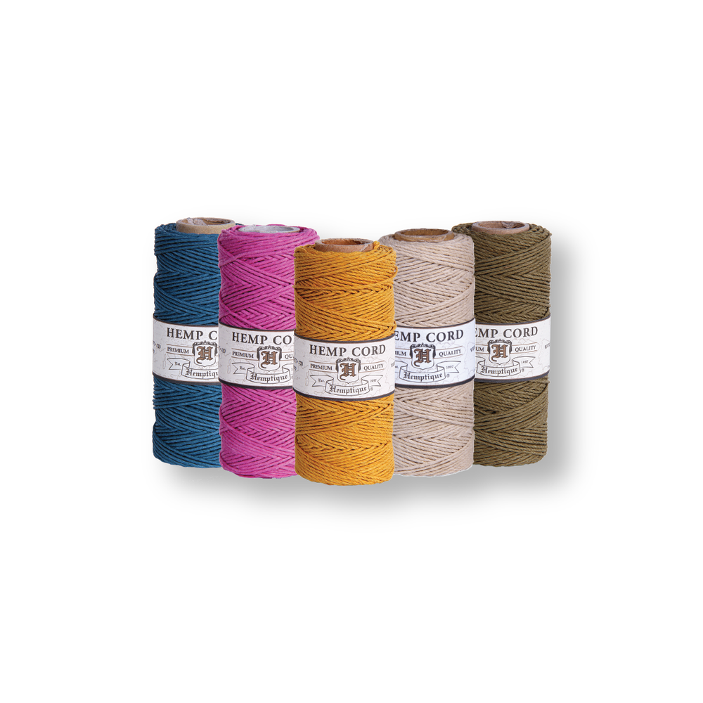 Hemp Cord #10 ⌀ 0.5mm - 5 Spools - 20 Shades Available