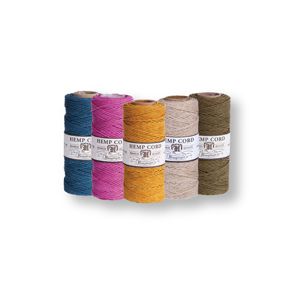 Hemp Cord #10 0.5mm - 5 Spools - Choose Your Colors - Hemptique