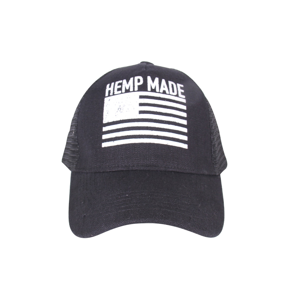 Trucker Hat HEMP MADE (Black)