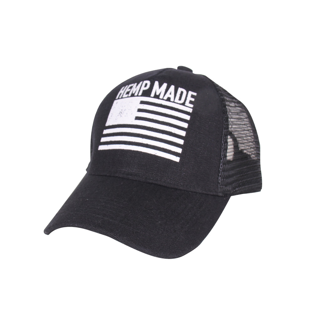 Trucker Hat HEMP MADE (Black) - Hemptique