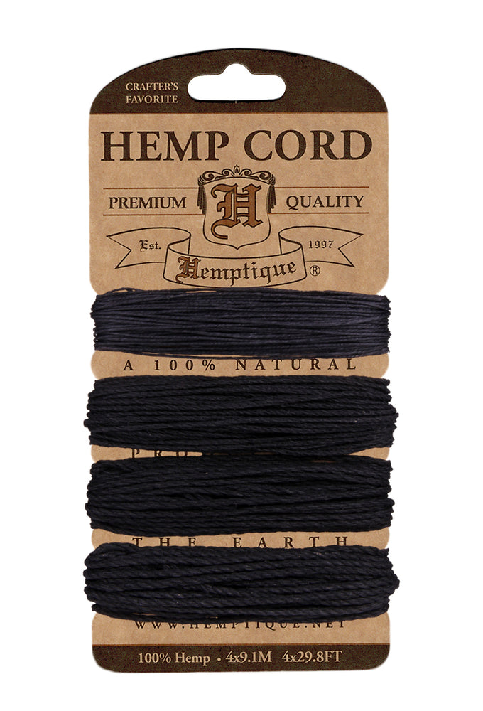 Hemp Cord Card Assorted Weight  10lb./20lb./36lb./48lb. - 2 Shades Available
