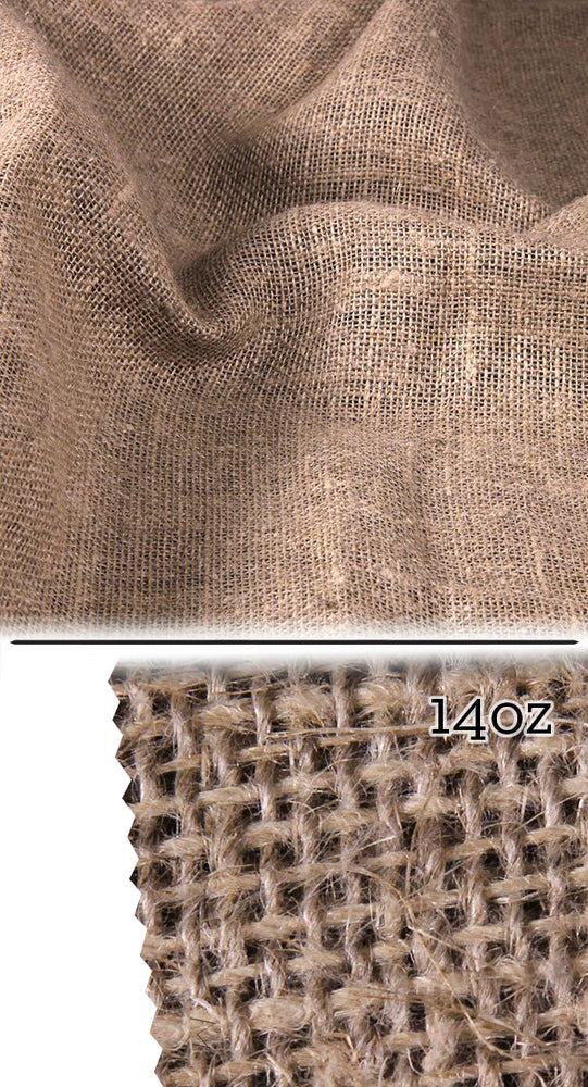 100% Hemp Burlap 14 oz Fabric- By the meter