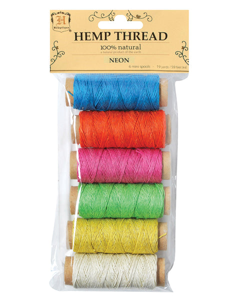 Hemp Thread - Neon - 6 Pack