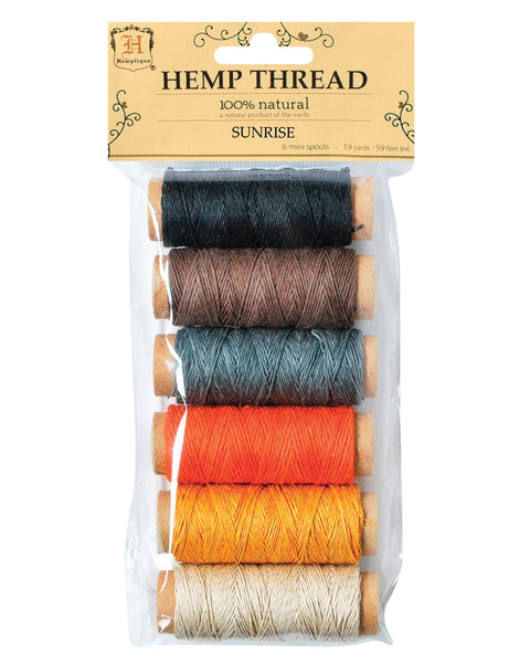 Hemp Thread - Sunrise - 6 Pack - Hemptique