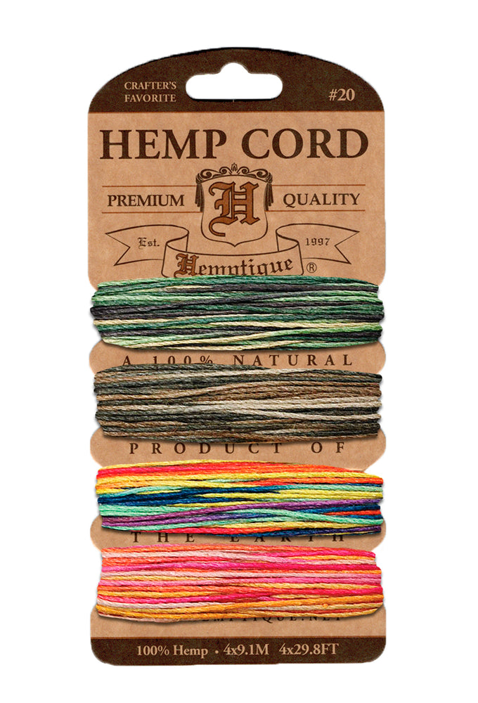 Hemp Cord Card Variegated, Metallic and Glitter Cards -14 color sets