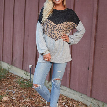 The Bunkhouse - Leopard Sweater