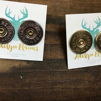 Remington 12 Gauge Shotgun Shell Earring Studs