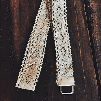 Rustic Cream Lace Lanyard or Wristlet